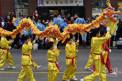 Photograph - Chinese Dragon Dancers by John  Mitchell