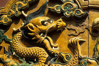Ceramics Photograph - Chinese Dragon Portrait by James Brunker