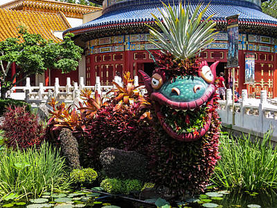 Disney Photograph - Chinese Dragon by Zina Stromberg