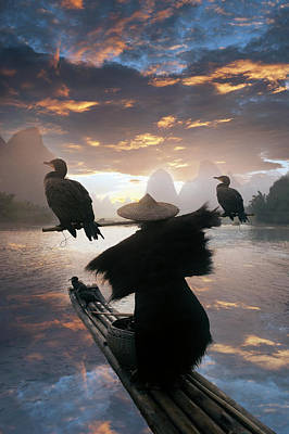 Photograph - Chinese Fisherman With Cormorant by Buena Vista Images
