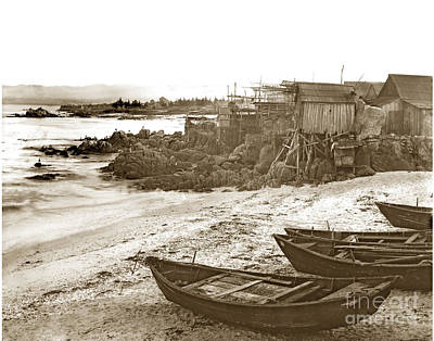 Photograph - Chinese Fishing Village Pacific Grove California  Circa 1890 by California Views Mr Pat Hathaway Archives