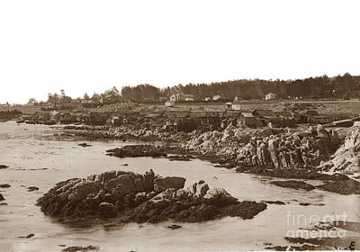 Photograph - Chinese Fishing Village Pacific Grove California  Circa 1898 by California Views Mr Pat Hathaway Archives