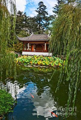 Willow Lake Photograph - Chinese Garden Dream by Jamie Pham