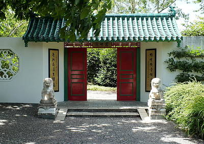 Photograph - Chinese Garden Entrance by Guy Pettingell