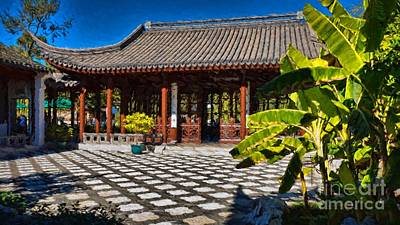 Photograph - Chinese Garden Tea House by Peggy Hughes