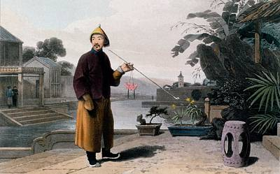 Step Stool Drawing - Chinese Gentleman, From A Picturesque by Thomas & William Daniell