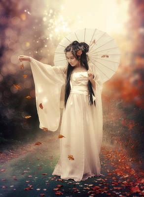 Chinese Girl Print by Cindy Grundsten