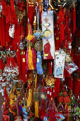 Photograph - Chinese Good Luck Charms by John  Mitchell