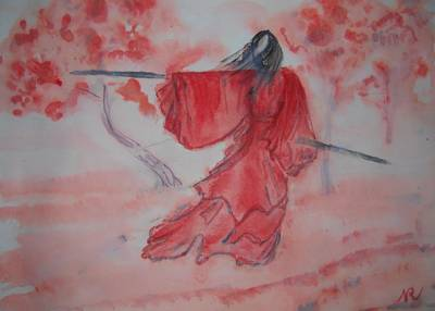 Chinese Ink IIi - Warrior Woman Original by Nicla Rossini