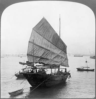Chinese Junk Wall Art - Painting - Chinese Junk, C1907 by Granger