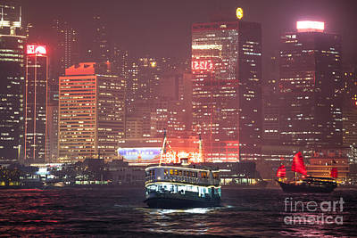 City Photograph - Chinese Junk Sail In Hong Kong by Matteo Colombo