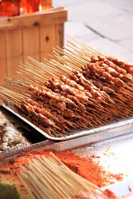 Photograph - Chinese Lamb Skewers by Valentino Visentini
