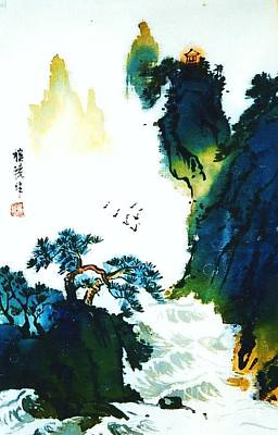 Painting - Chinese Landscape by Rose Wang