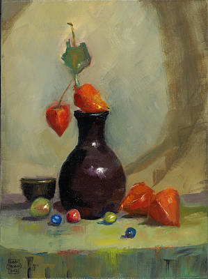 Painting - Chinese Lanterns And Marbles by Susan Thomas