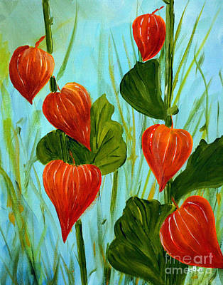 Painting - Chinese Lanterns by Claire Bull