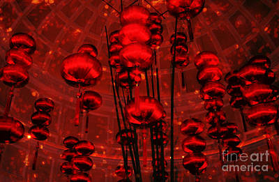 Photograph - Chinese Lanterns by Julie Lueders