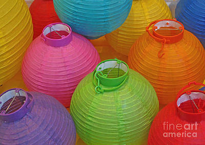 Chinese Lanterns Art Print by Ranjini Kandasamy