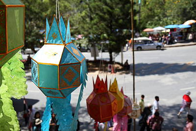 Chinese Photograph - Chinese Lanterns - Wat Phrathat Doi Suthep - Chiang Mai Thailand - 01136 by DC Photographer