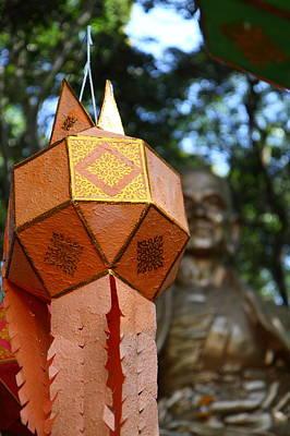 Lantern Photograph - Chinese Lanterns - Wat Phrathat Doi Suthep - Chiang Mai Thailand - 01138 by DC Photographer