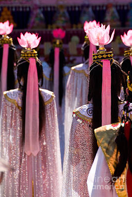 Photograph - Chinese Lotus Flower Dancers 01 by Rick Piper Photography