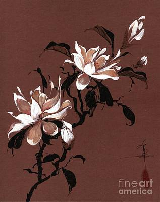 Chinese Magnolia Print by Linda Smith