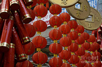Photograph - Chinese New Year Decorations by John  Mitchell