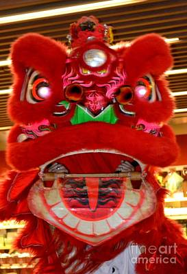 Impressionist Landscapes - Chinese New Year Series 2015 - Red Dragon With Open Mouth by Mary Deal