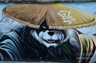 Photograph - Chinese Panda Wall Graffiti Street Art Shanghai China by Imran Ahmed