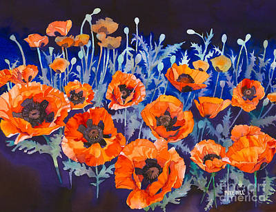Mike Hill Painting -  Poppies Pleasure And Pain by Mike Hill