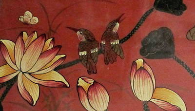 Photograph - Chinese Red Lacquer Chest Detail by Ashley Goforth