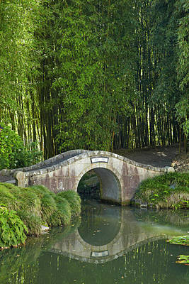 Garden Bridge Photograph - Chinese Scholar's Garden, Hamilton by David Wall