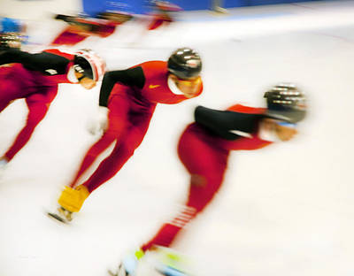 Photograph - Chinese Short Track  by Theresa Tahara