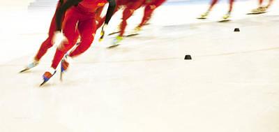 Photograph - Chinese Speed Skating  by Theresa Tahara
