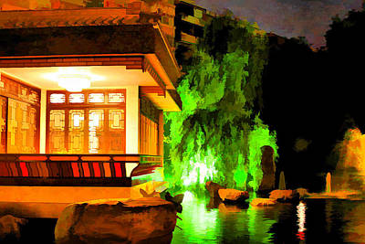 Photograph - Chinese Tea Garden At Night by Brian Davis