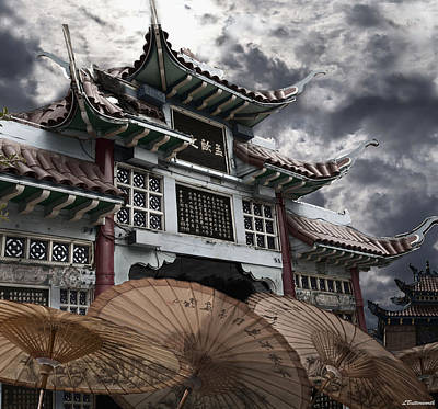 Chinese Temple Gate Art Print by Larry Butterworth