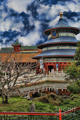 Photograph - Chinese Temple Iv by Lee Dos Santos