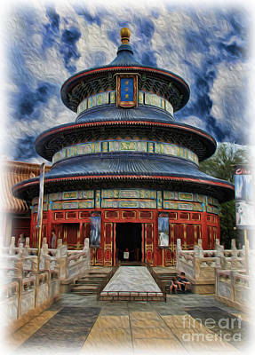 Photograph - Chinese Temple by Lee Dos Santos