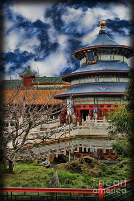 Photograph - Chinese Temple Vi by Lee Dos Santos