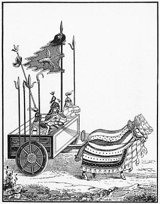 Drawing - Chinese War Chariot by Granger
