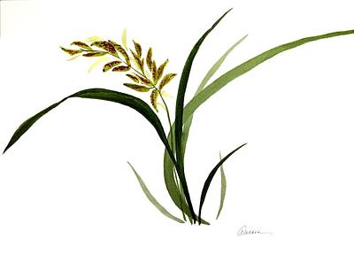 Painting - Chinese Wild Orchid #4 by Alethea McKee