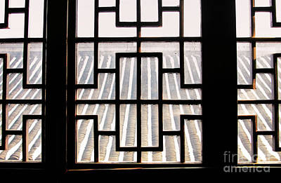 Photograph - Chinese Window Abstract by Charline Xia