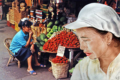 Photograph - Chinese Woman With A Facial Mole IIi by Jim Fitzpatrick
