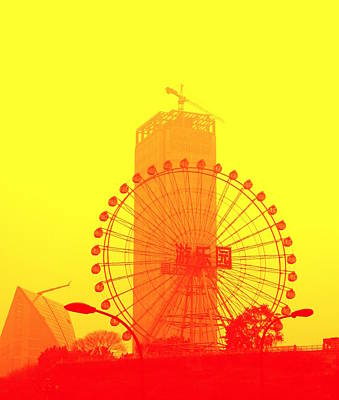 Photograph - Chinese Wonder Wheel by Valentino Visentini