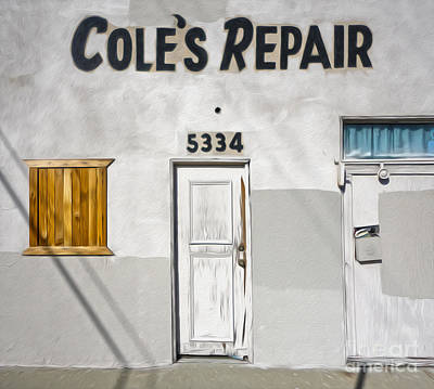 Chino - Coles Repair Art Print by Gregory Dyer