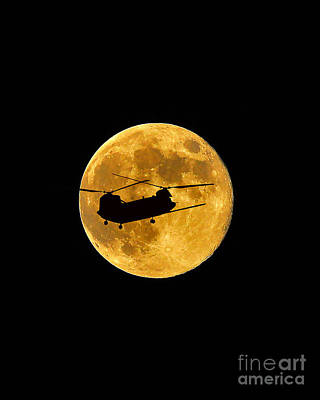 Lunation Photograph - Chinook Moon Color Vertical by Al Powell Photography USA