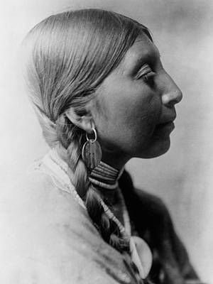 Earrings Photograph - Chinookan Indian Woman Circa 1910 by Aged Pixel