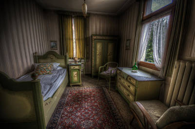 Eerie Digital Art - Chintz Bedroom by Nathan Wright