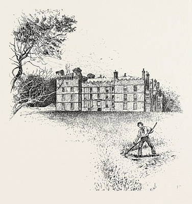 Pele Drawing - Chipchase Castle,  Is A 17th-century Jacobean Mansion by English School