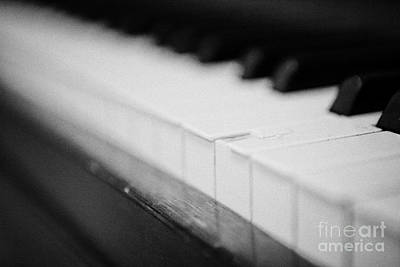 Chipped Key On A Baby Grand Piano In A Music Training Room Art Print