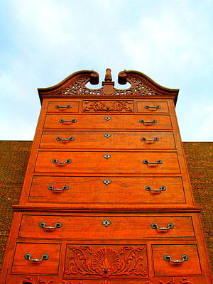 Photograph - Chippendale Chest Of Drawers by Randall Weidner